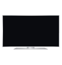 isolated oled silver flat smart wide tv and black vector image