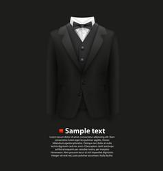 Jacket over a black background vector