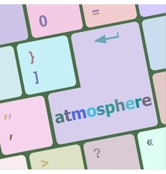 Keyboard with enter button atmosphere word on it vector
