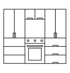kitchen furniture icon outline style vector image