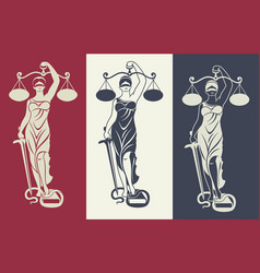 Lady justice themis 3 vector