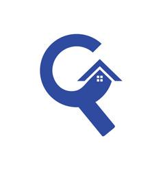 letter c robuilding construction logo vector image