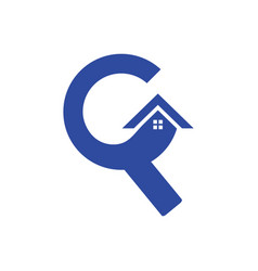 Letter c roof building construction logo vector