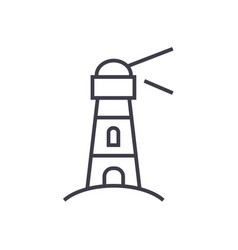 lighthousenautical building line icon vector image