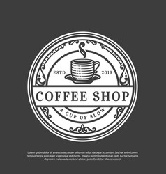logo a classic-style coffee shop vector image