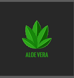 logo aloe vera plant natural cosmetics salon vector image