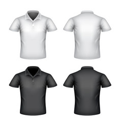 male polo shirt isolated on white vector image vector image