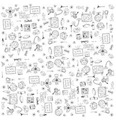 Many element education doodles vector