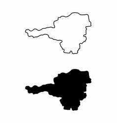 maps of austria vector image