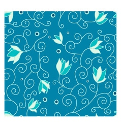 Pattern with flowers vector image vector image