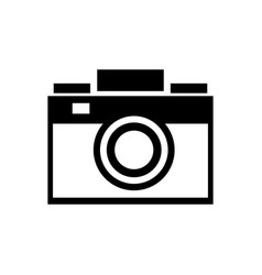 Photo camera picture device flash lent vector