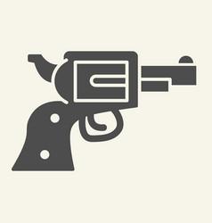 Pistol solid icon revolver vector
