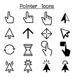 pointer cursor click icons vector image