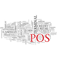 pos word cloud concept vector image