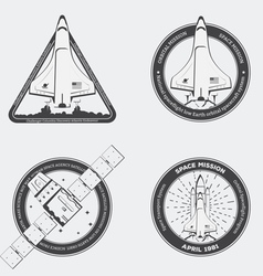 Rocket emblems vector image