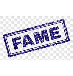 Scratched fame rectangle stamp vector