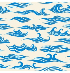 Seamless pattern waves vector