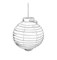 Sketch of chines lantern vector