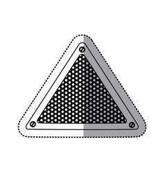 Sticker silhouette triangular metallic frame with vector