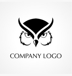 Symbol of an owl vector