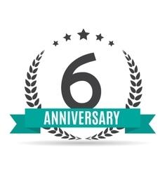 Template Logo 6 Years Anniversary vector