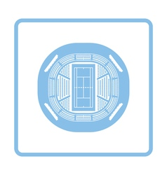 Tennis stadium aerial view icon vector