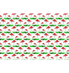 toadstool red pattern vector image