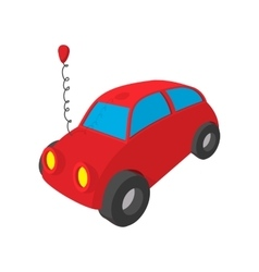 Toy red car cartoon icon vector