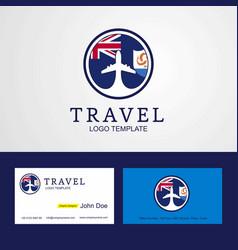 Travel anguilla creative circle flag logo and vector