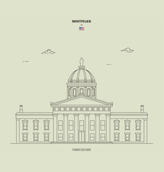 Vermont state house in montpelier usa vector
