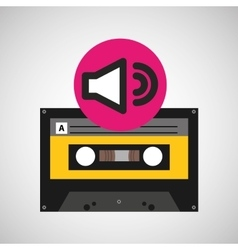 Volume music cassette tape vector