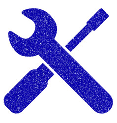 Wrench and screwdriver tools icon grunge watermark vector