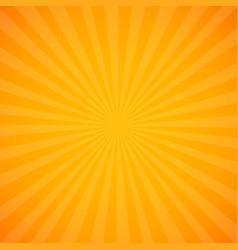 Yellow sunburst background vector