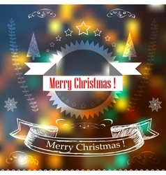 Hand Drawn Christmas Decoration Set Of decoration vector image vector image