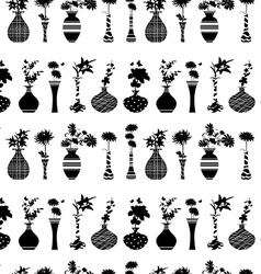 seamless texture with rows of variety modern vases vector image vector image