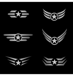 Silver Wings emblem vector image vector image