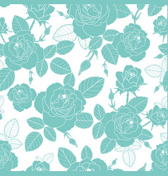 Vintage light blue and white roses and vector