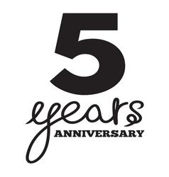 5 years anniversary vector image vector image