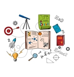 Astronomy and science colorful icons vector image vector image