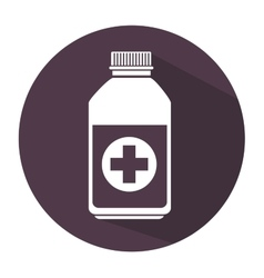 bottle medicine care icon vector image vector image