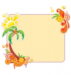 colored banner with palm vector image vector image