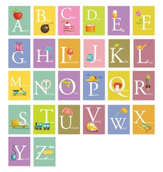 Colorful abc letters vector image vector image