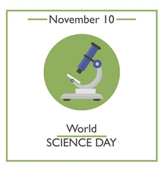 Science Day vector image vector image