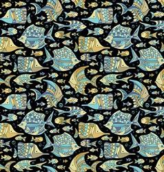 seamless ocean fish pattern vector image