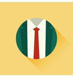 suit and red tie vector image vector image