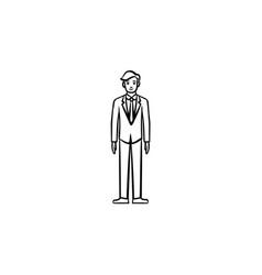 employee hand drawn sketch icon vector image