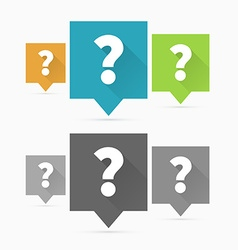 Question and answers vector image vector image