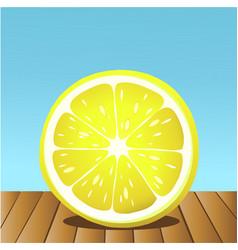 summer lemon fruit vector image vector image