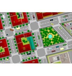 urban landscape street vector image vector image