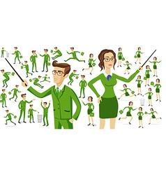 Business people business motion women men vector image